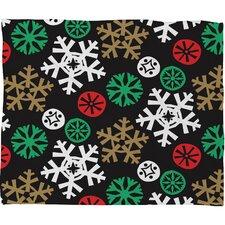 Zoe Wodarz Cozy Cabin Snowflakes Plush Fleece Throw Blanket