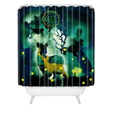 Randi Antonsen The Nordic Night Woven Polyester Shower Curtain