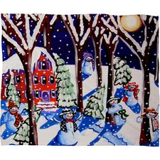 Renie Britenbucher Magic Snowmen Plush Fleece Throw Blanket