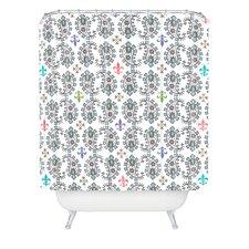 Andi Bird Paisley Ornamental Woven Polyester Shower Curtain