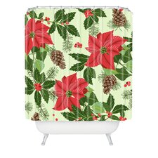 Sabine Reinhart Christmas Ballad Woven Polyester Shower Curtain