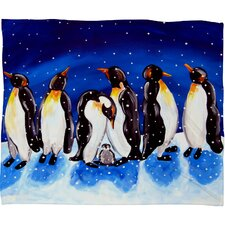 Renie Britenbucher Penguin Party Plush Fleece Throw Blanket