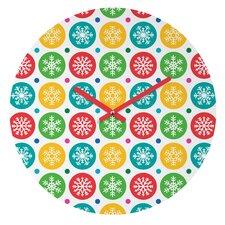 Andi Bird Sierra Snowflakes Wall Clock