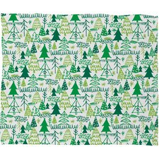 Zoe Wodarz Wonderland Forest Plush Fleece Throw Blanket