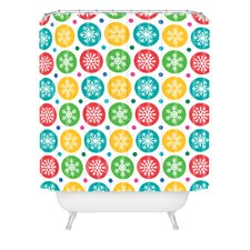 Andi Bird Sierra Snowflakes Woven Polyester Shower Curtain