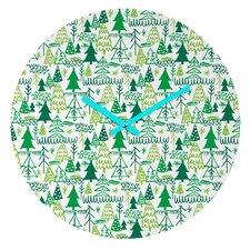 Zoe Wodarz Wonderland Forest Wall Clock