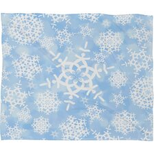 Lisa Argyropoulos Snow Flurries Plush Fleece Throw Blanket