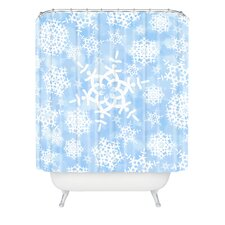 Lisa Argyropoulos Snow Flurries Woven Polyester Shower Curtain
