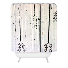 Kent Youngstrom Holiday Trees Woven Polyester Shower Curtain