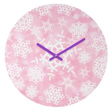 Lisa Argyropoulos Snow Flurries Wall Clock