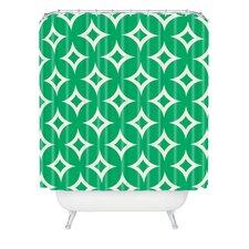 Holli Zollinger Emerald Diamonds Woven Polyester Shower Curtain