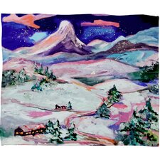 Ginette Fine Art Winter Wonderland Plush Fleece Throw Blanket