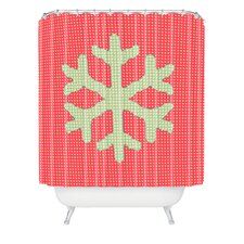 Ingrid Padilla Snowflake Woven Polyester Shower Curtain