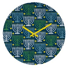 Loni Harris Menorahs Wall Clock