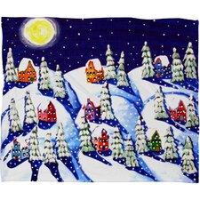 Renie Britenbucher Silent Night Plush Fleece Throw Blanket