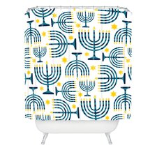 Zoe Wodarz Holiday Lights Woven Polyester Shower Curtain