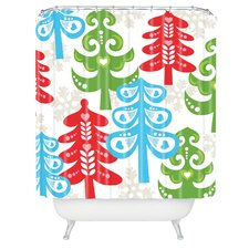 Zoe Wodarz Forest Tales Woven Polyester Shower Curtain