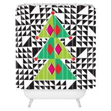 Zoe Wodarz Geo Pop Tree Woven Polyester Shower Curtain