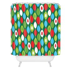 Zoe Wodarz Mini Forest Woven Polyester Shower Curtain