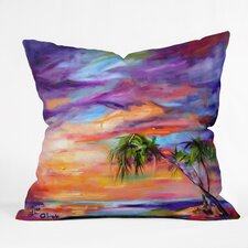 Ginette Fine Art Florida Palms Beach Outdoor Throw Pillow
