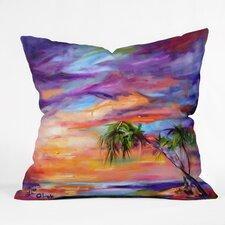 Ginette Fine Art Florida Palms Beach Throw Pillow