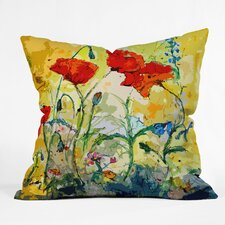Ginette Fine Art Poppies Provence Throw Pillow