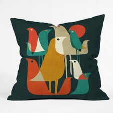 Budi Kwan Flock Of Bird Outdoor Throw Pillow