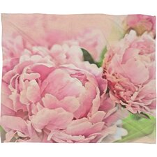 Lisa Argyropoulos Peonies Polyester Fleece Throw Blanket