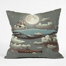 Terry Fan Ocean Meets Sky Outdoor Throw Pillow