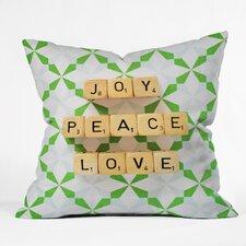 Happee Monkee Joy Peace Love Throw Pillow