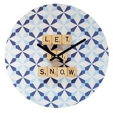 Happee Monkee Let It Snow Wall Clock