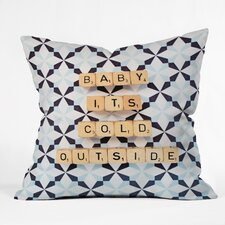 Happee Monkee Baby Its Cold Outside Throw Pillow