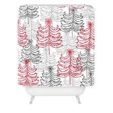 Rachael Taylor Doodle Trees Woven Polyester Shower Curtain