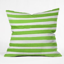 Social Proper Spruce Stripes Throw Pillow