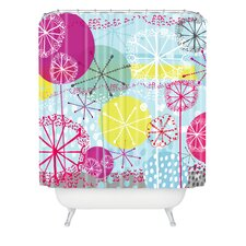 Rachael Taylor Snowflake Stems Woven Polyester Shower Curtain