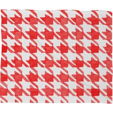 Social Proper Candy Houndstooth Plush Fleece Throw Blanket