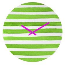 Social Proper Spruce Stripes Wall Clock