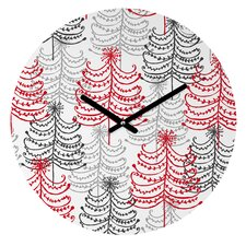Rachael Taylor Doodle Trees Wall Clock