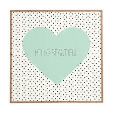 Hello Beautiful Heart by Allyson Johnson Framed Wall Art