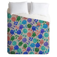 Bianca Green Lightweight Roses Blue Duvet Cover