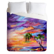 Ginette Fine Art Lightweight Florida Palms Beach Duvet Cover