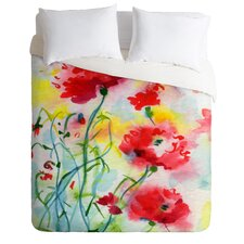 Ginette Fine Art Lightweight If Poppies Could only Speak Duvet Cover