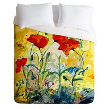Ginette Fine Art Lightweight Poppies Provence Duvet Cover
