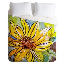 Ginette Fine Art Lightweight Sunflower Ribbon Duvet Cover