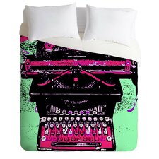 Romi Vega Lightweight Antique Typewriter Duvet Cover