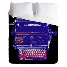 Romi Vega Lightweight Continental Typewriter Duvet Cover