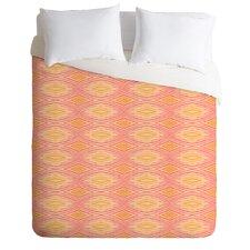 Cori Dantini Orange Ikat Lightweight Duvet Cover