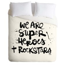 Kal Barteski Light Weight Superheroes Duvet Cover