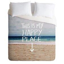 Leah Flores Lightweight Happy Place X Beach Duvet Cover