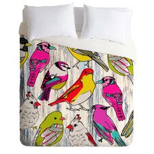 Mary Beth Freet Lightweight Couture Home Birds Duvet Cover